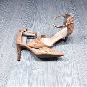 Franco Sarto Ashlyn perforated ankle strap heels 8